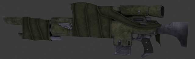 M36 Cadian Pattern Lasrifle (WIP)