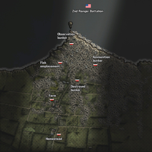 Minimap Point du Hoc