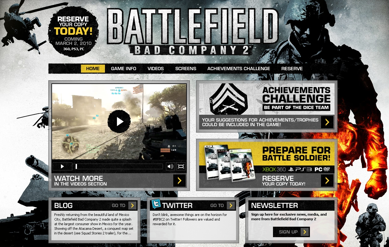 Bad Company 2 Website