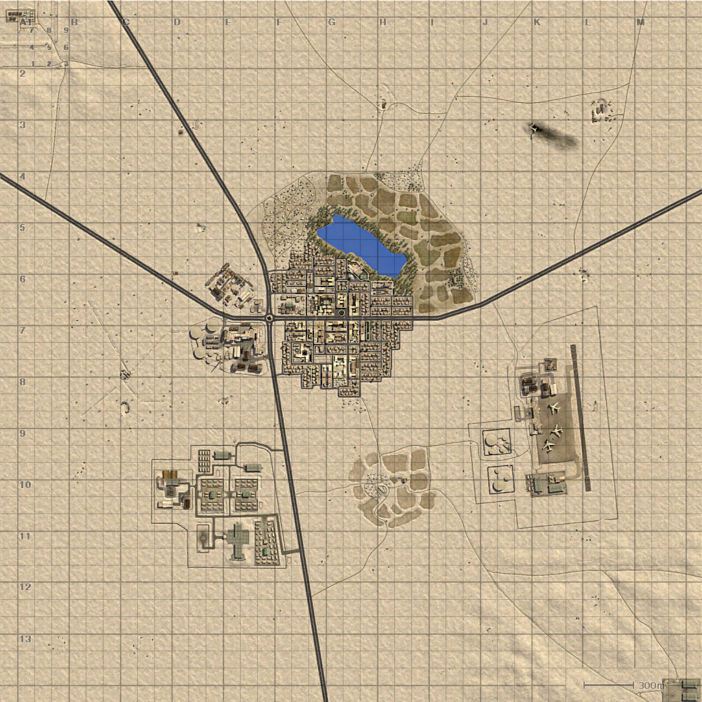 Burning Sands Minimap