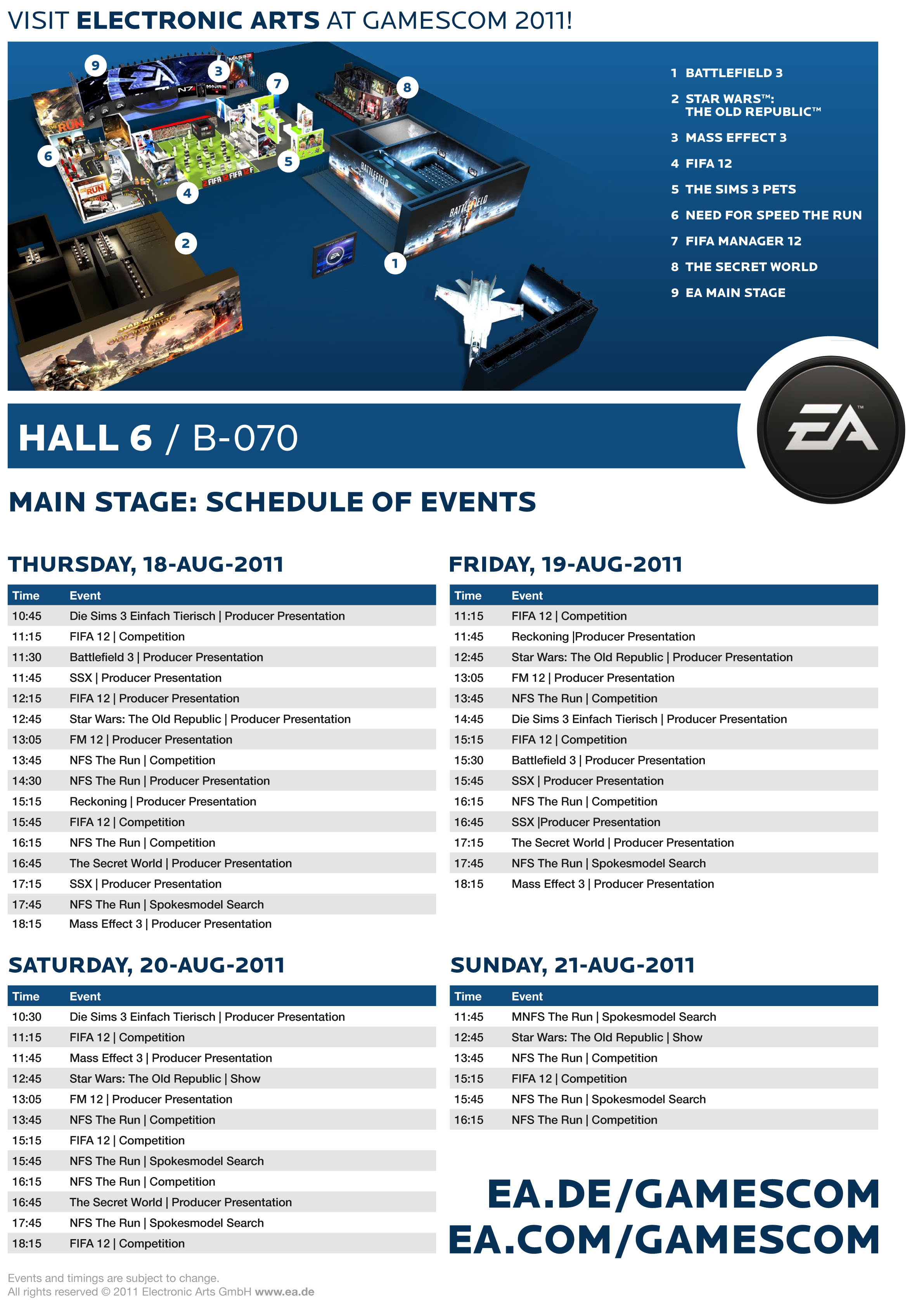 EA at Gamescom 2011