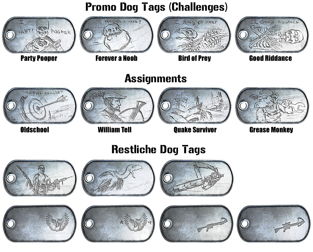 Aftermath Dog Tags (Übersicht)