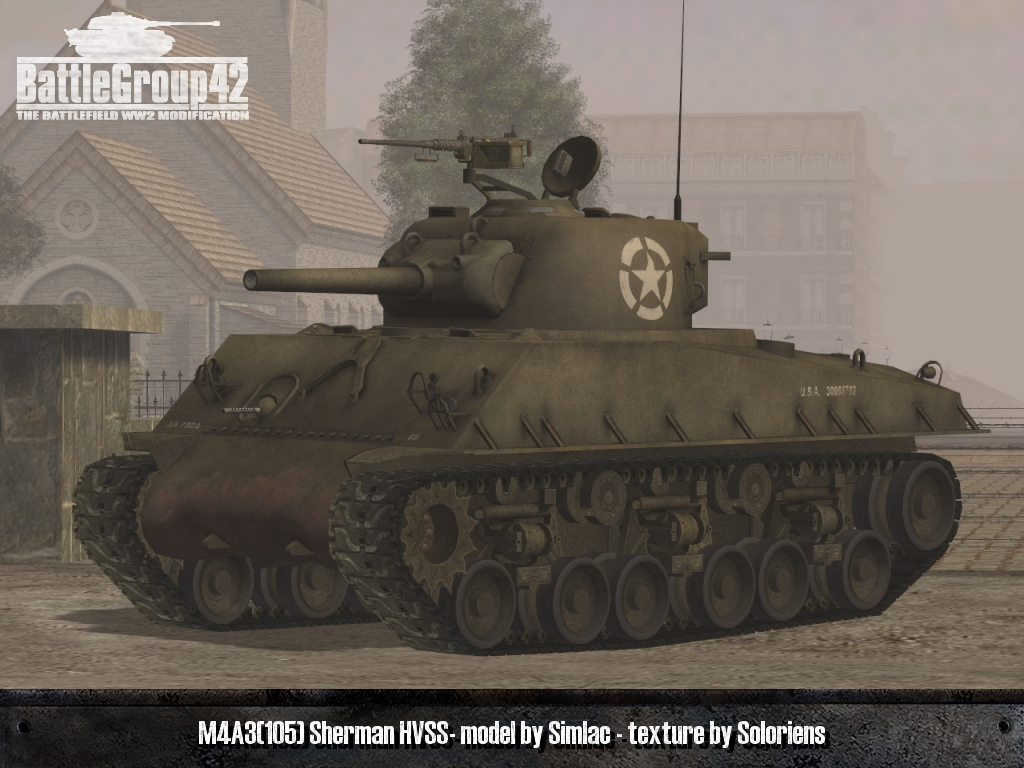 M4A3 (105mm) Sherman HVSS