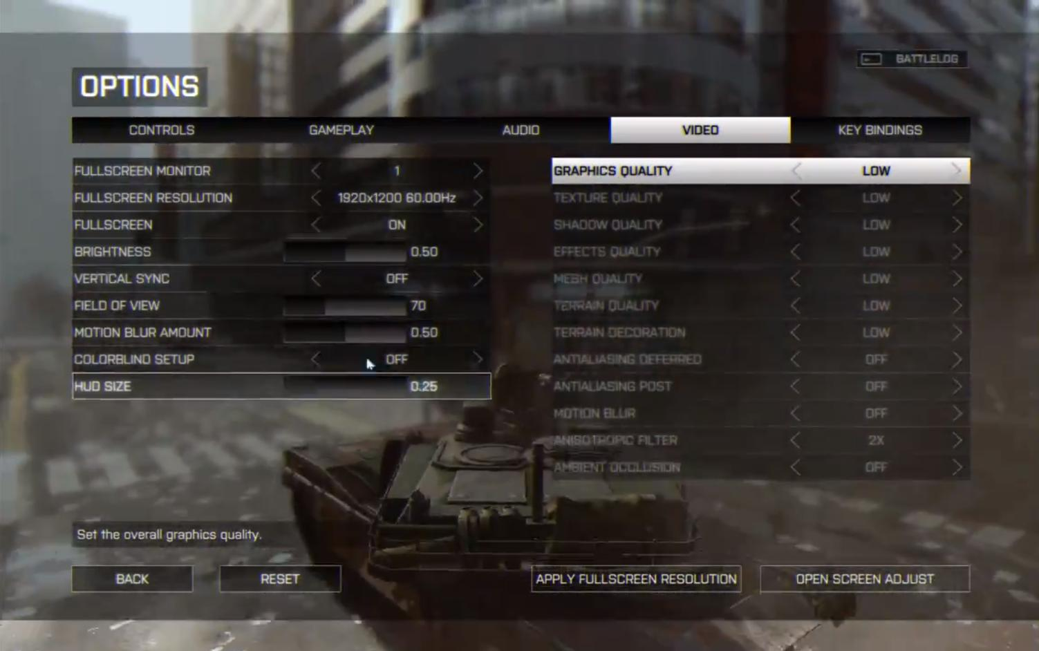 Battlefield 4 - HUD Optionen