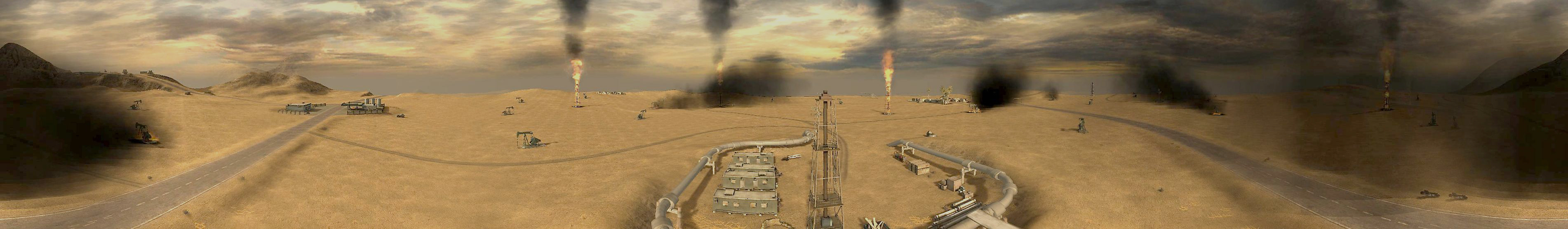 Burning Oilfields